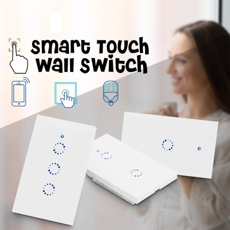 SONOFF 1 2 3 Gang AC90V-250V 600W WiFi RF Smart Wall Touch Light Switch Controller For Alexa Google Home App