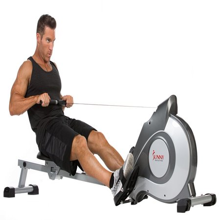 Sunny Health & Fitness SF-RW5515 Magnetic Rowing Machine Rower with LCD Monitor