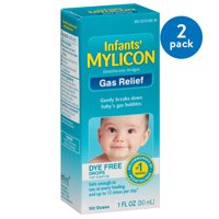 (2 Pack) Mylicon Infants' Dye Free Gas Relief 100 Doses, 1 Fl Oz