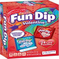 (2 Pack) Fun Dip, Sour Candy and Card Valentine Kit, 10 Oz , 24 Ct