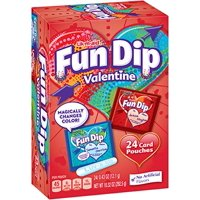 Fun Dip, Sour Candy and Card Valentine Kit, 10 Oz , 24 Ct