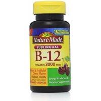 Nature Made Vitamin B-12 3000mcg, Sublingual Lozenges, Cherry 40 ea (Pack of 2)