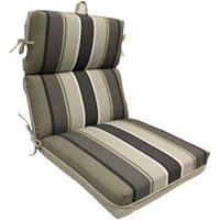 Better Homes and Gardens Linen Reverse to Stripe 1 Piece Dining Chair Cushion