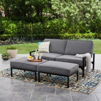 Mainstays Moss Falls 3pc Outdoor Sofa-Daybed Set - Grey/Black
