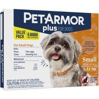 PetArmor Plus Flea & Tick Prevention for Dogs (4-22 lbs), 6 Treatments