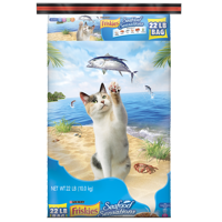 Friskies Seafood Sensations Adult Dry Cat Food, 22 lb