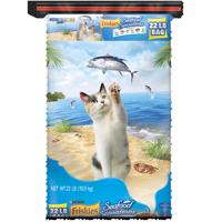 Friskies Seafood Sensations Adult Dry Cat Food, 22 lb