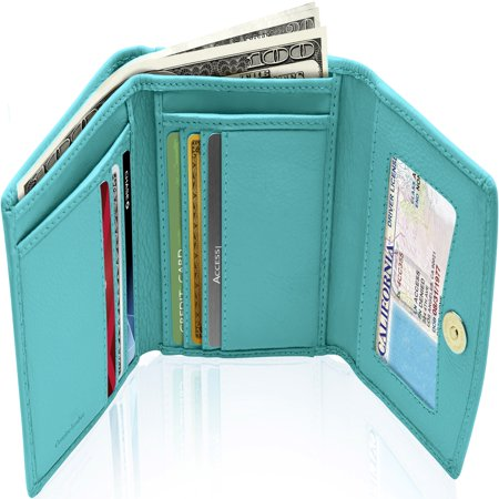 Small Trifold Wallets For Women - Credit Card Holder With Coin Purse RFID Blocking Gifts For (Heart Small Wallet)