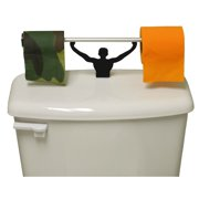 Camo Blaze Orange Toilet Paper W Strong Man Holder Hunter Gift Set
