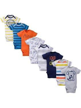 Assorted Short Sleeve Bodysuits Set, 8pk (Baby Boy)