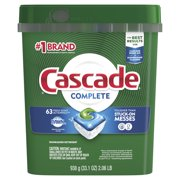 Cascade Complete Actionpacs, Dishwasher Detergent, Fresh Scent, 63 count