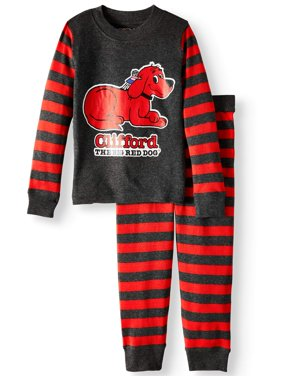 Clifford Baby Toddler Boys' or Girls' Unisex Tight Fit Pajamas 2-Piece Set