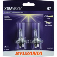 SYLVANIA H7 XtraVision Halogen Headlight Bulb, Pack of 2