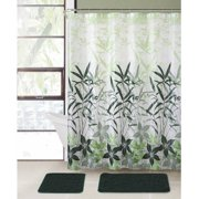 VCNY Home Bamboo Leaf 15 Piece Bath In A Bag Set Shower Curtain And