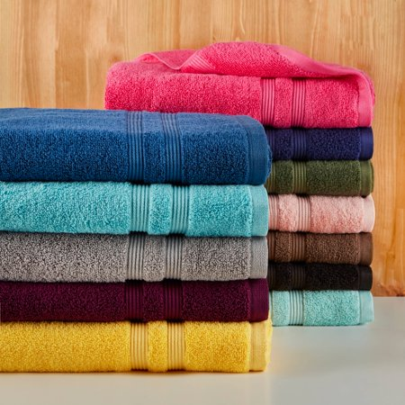 Mainstays Solid Performance Cotton Towel Set - 6 Piece Set