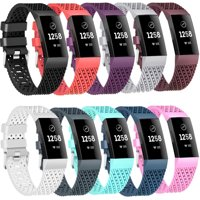 Moretek 10PCS Charge 3 Replacement Wrist Band Multi-Color Women Men Bands Accessories for Fitbit Charge 3 Large