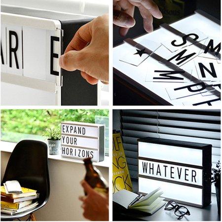 104 packs Black Letters Sign for A4 MagiGlow Cinematic Cinema Light Up Letter Box Sign  Message (Black Plastic Letter Board Insert)