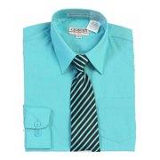 656d82c5 Boys Mint Button Up Dress Shirt Striped Tie Set 8-18