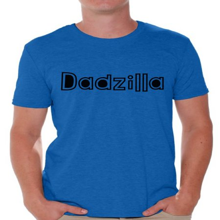 Awkward Styles Men's Dadzilla Dad's Graphic T-shirt Tops Father's Day Cool Gift for Dad - Dad's Day Gifts