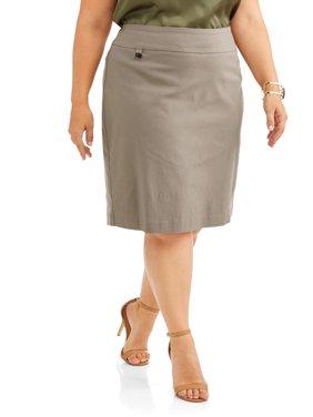 Women's Plus Midi Length Pencil Skirt