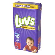 Luvs Ultra Leakguards Newborn Diapers Size 1 48 count