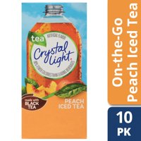 (4 pack) Crystal Light On-the-Go Peach Iced Tea Drink Mix, 10 Packets