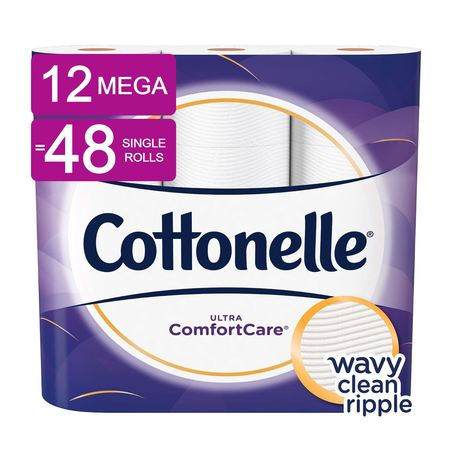 Cottonelle Ultra ComfortCare Toilet Paper, 12 Mega Rolls (=48 Regular - Halloween Toilet Paper Roll Glow Sticks