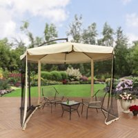 Better Homes and Gardens 11' Offset Umbrella with Detachable Net, Tan