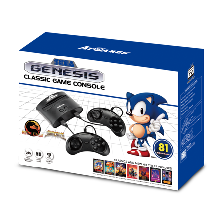 Sega Genesis Classic Game Console With 81 Classic Games Built In