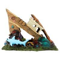 Aqua Culture Large Ship or Coral Reef Aquarium Ornament, Assorted Item May Vary