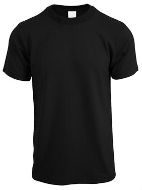 Mens Crew Neck T Shirt Solid Short Sleeve Tee S-5XL Big and Tall