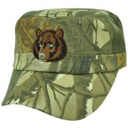 Bear Camouflage Camo Fatigue Military Style Hat Cap Adjustable Curved Bill  Green 5cf245c9f