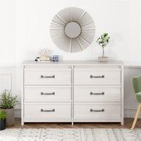 Better Homes & Gardens Emory 6 Drawer Dresser, Ivory Oak