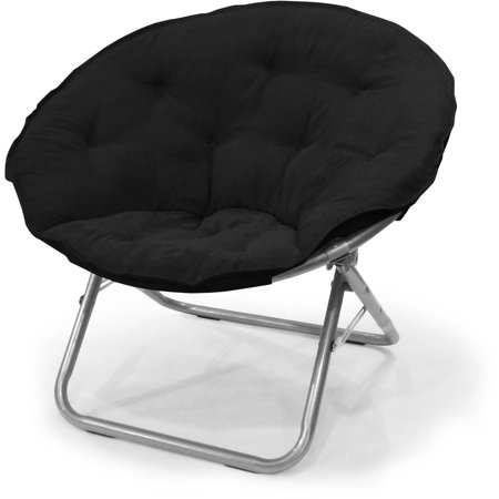 Big Round Chair (Mainstays Large Microsuede Saucer Chair, Multiple Colors )