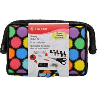 """Singer Sewing Basket Kit with Accessories, 7.25"""" x 3.5"""" x 5"""""""