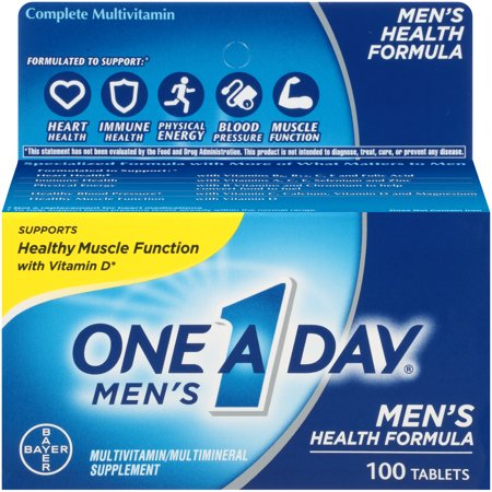 One A Day Menâs Multivitamin, Supplement with Vitamins A, C, E, B1, B2, B6, B12,Calcium and Vitamin D, 100