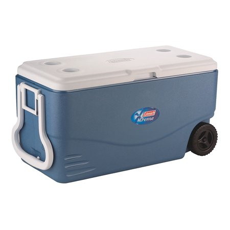 - Coleman 100-Quart Xtreme 5-Day Heavy-Duty Cooler with Wheels, Blue