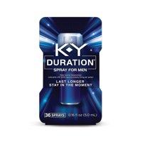 K-Y Duration Spray for Men - Last Longer, 36 sprays, 0.16 oz