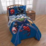 Avengers Marvel Comics Boys Twin Comforter & Sheet Set (4 Piece Bed In Bag)