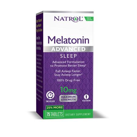 Natrol Advanced Sleep Melatonin Tablets, 10mg, 75 - Natrol Melatonin Time Release