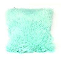 "Your Zone Flokati Decorative Throw Pillow, 16"" x 16"", Classic Mint"
