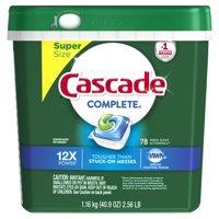 Cascade Complete ActionPacs Dishwasher Detergent, Fresh, 78 count