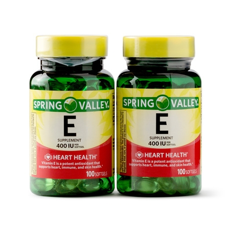 Spring Valley Vitamin E Supplement, 400IU, 200 Softgel Capsule Twin