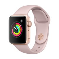 Refurbished Apple Watch - Series 3 - 38mm - Gold Aluminum Case - Pink Sand Sport Band