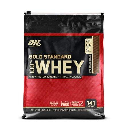 Optimum Nutrition Gold Standard 100% Whey Protein Powder, Extreme Milk Chocolate, 24g Protein, 10 Lb