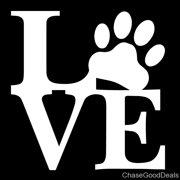 9996b23aedcd Love Paw Animal Pet Dog Cat Cute Car Vinyl Decal Sticker 5