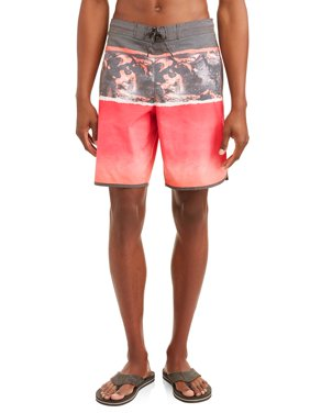 George Men's Triblock Eboard Swim Short with Dolphin Hem, Up to size 5XL
