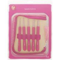 """Boye 6"""" Pink Ergo Crochet Hook Set, Sizes E-K, Aluminum, 3396260001"""