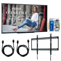 """Sharp PN-LE901 90"""" Class 1920X1080 Commercial LCD HDTV Display w/ Wall Mount Bundle Includes, Ultra Slim Low Profile Flat Wall Mount for 60-100� TVs, TV/LCD Screen Cleaning Kit and 2x HDMI Cable"""
