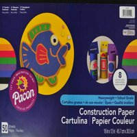 "SunWorks Construction Paper Pad, 12"" x 18"", 24 sheets, 8 Assorted Colors"
